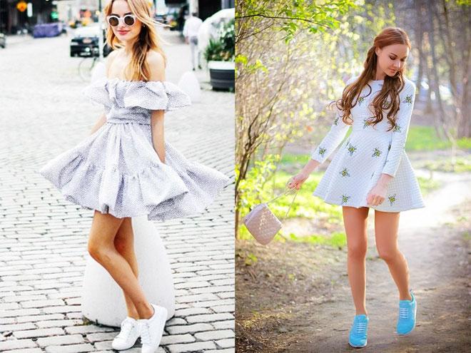 Нарядные платья и кеды