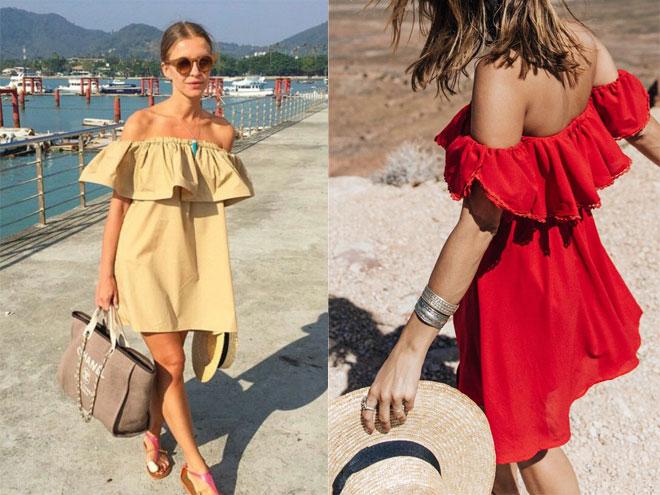 Летнее платье на одно плечо своими руками