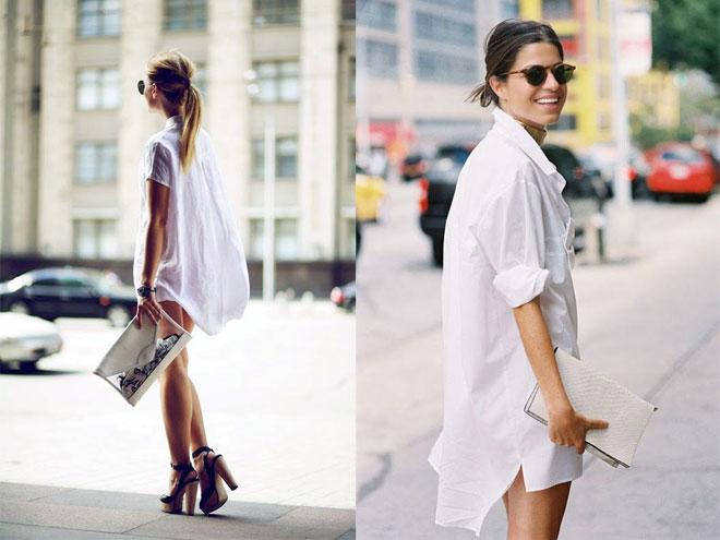 Комбинированные платья рубашки