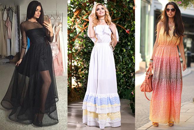 Покоряй женственностью в длинных летних платьях