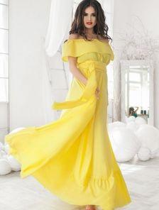 Обворожительное платье в желтом цвете
