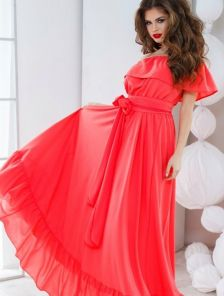 Волшебное платье в коралловом цвете
