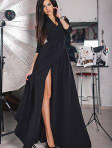 Платья на запах с разрезом
