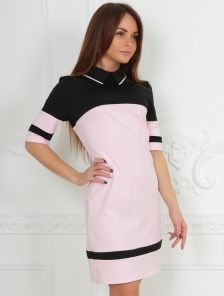 Стильное и милое платье в черно-розовых тонах