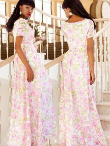 Пленительное летнее платье в цветы