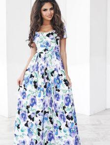 Невероятное летнее платье с цветочным принтом
