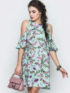 Легкое летнее платье короткое 156
