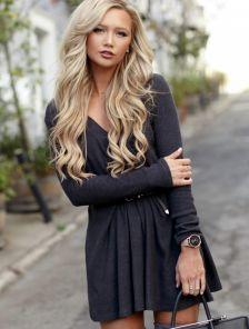 Невероятно уютное ангоровое платье-туника