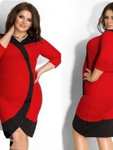 Обворожительное платье в черно-красной гамме