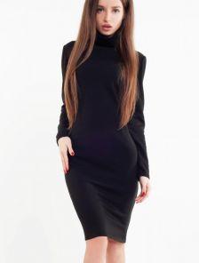 Теплое и комфортное платье из ангоры в черном цвете