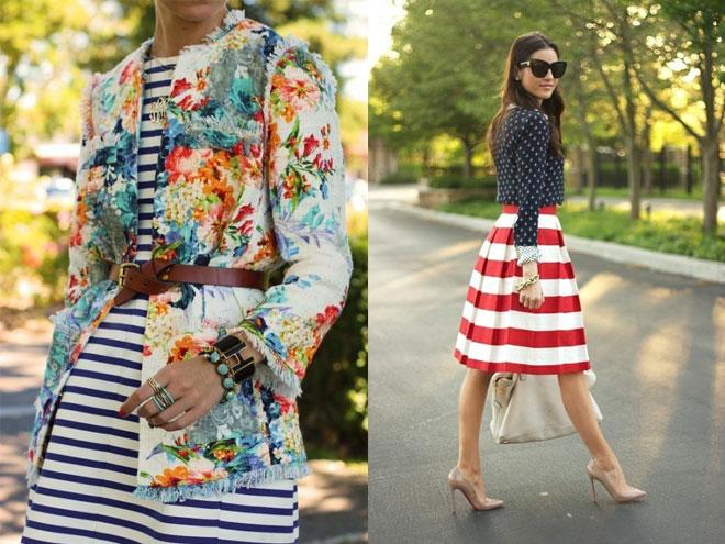 С чем носить платье или юбку с принтом?