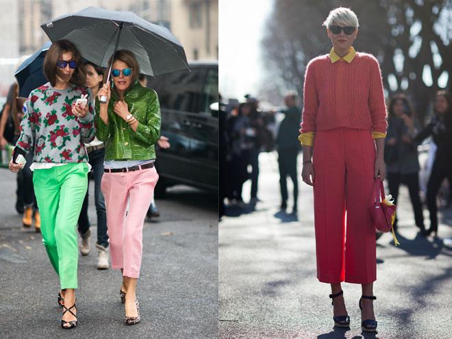 Модно опасные укороченные брюки