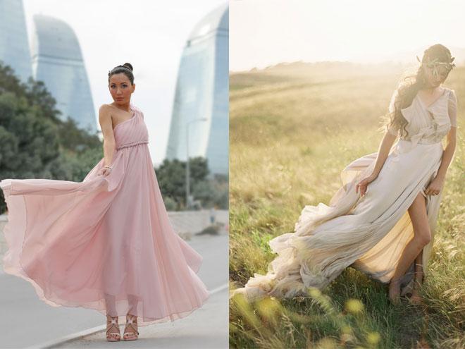 фасоны платьев для выпускного - платье в греческом стиле