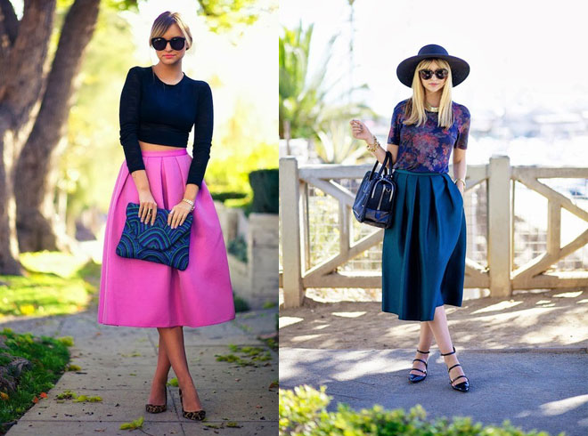 платья с юбкой-солнце
