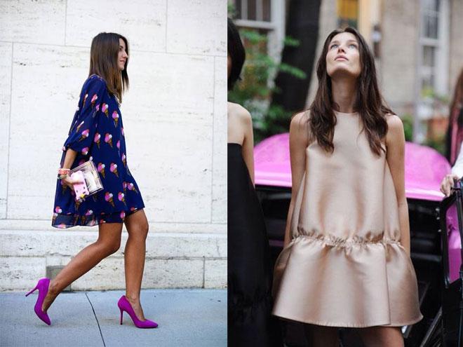 модное платье-трапеция