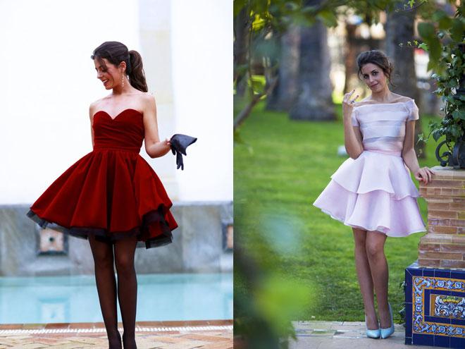Фото коротких пышных платьев для выпускного