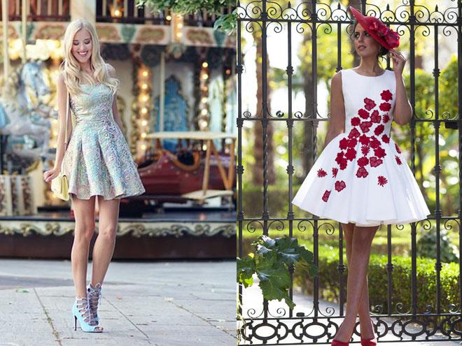 Варианты коротких платьев для выпускного, фото примеров