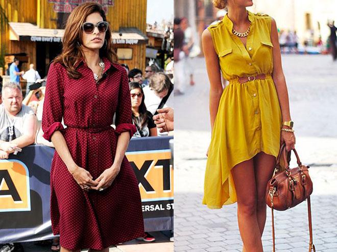 Модное платье-рубашка 2015