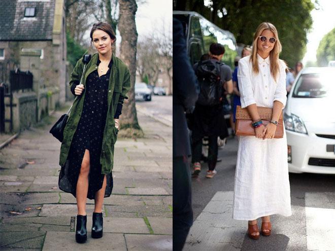 в моде длинное платье рубашка, фото и идеи образов