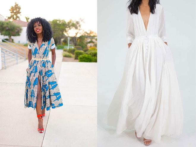 куда одеть длинное платье рубашку, фото и идеи луков