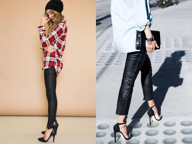C чем носить кажаные штаны