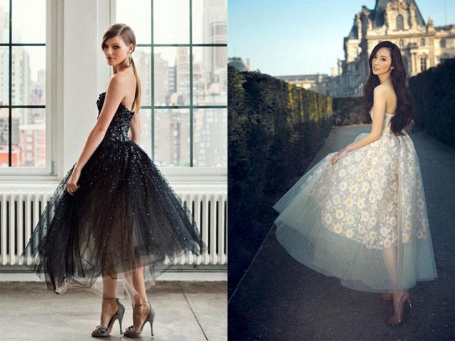 фото модных коротких платьев для выпускного