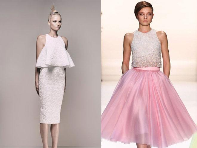 Модные фасоны коротких платьев для выпускного