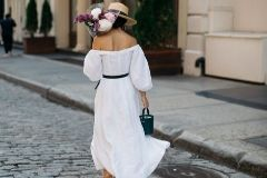 с чем носить белое платье