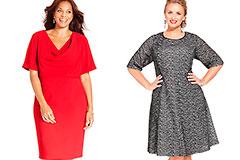 Как подобрать удачный фасон платья для пышной фигуры? Как правильно выбрать платье большого размера?