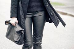 Дерзкие кожаные штаны - с чем носить?