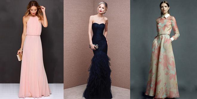 варианты длинных платьев для выпускного, фото