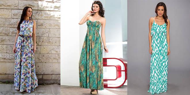 Как выбрать длинное летнее платье-макси