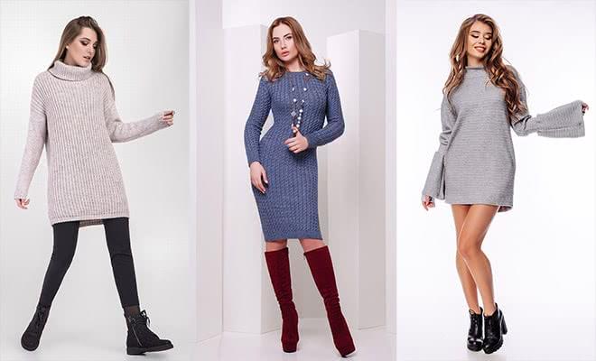 Платья из натуральной ангоры или шерсти – лучший выбор для холодной погоды