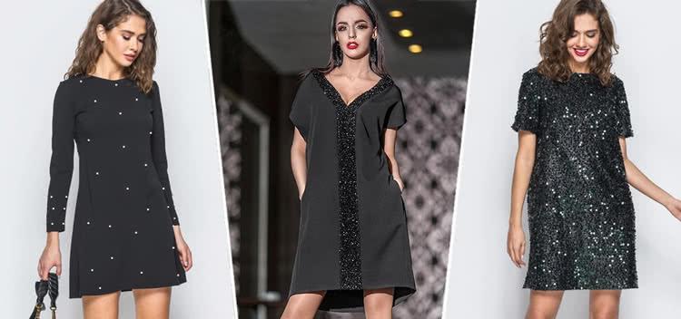 Маленькое черное платье фасона три дыры