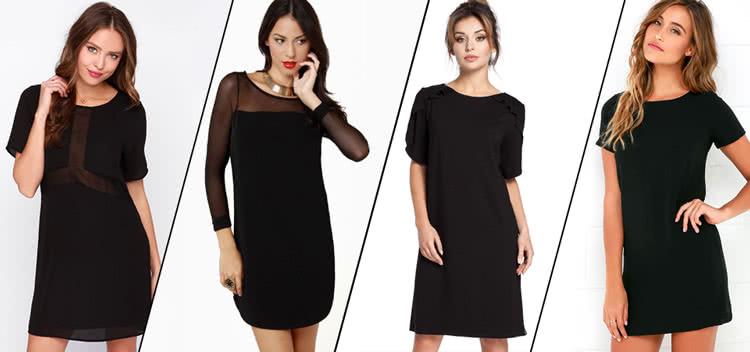 Маленькое черное платье клеш