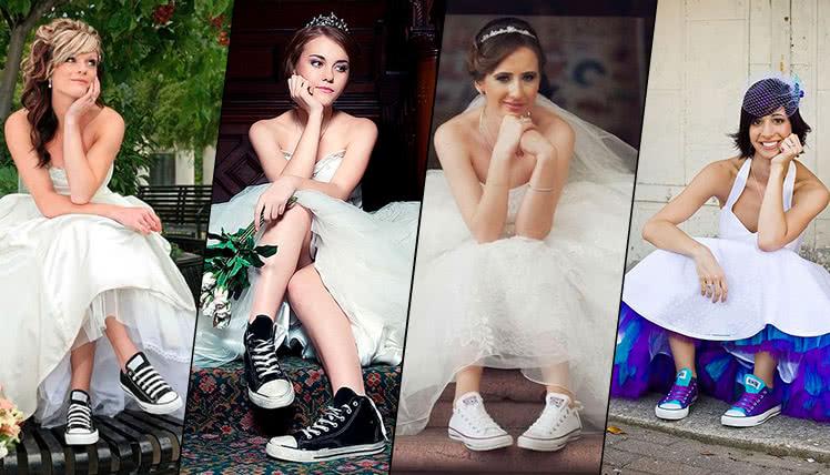 свадебное платье с кроссовками, фото, идеи образов