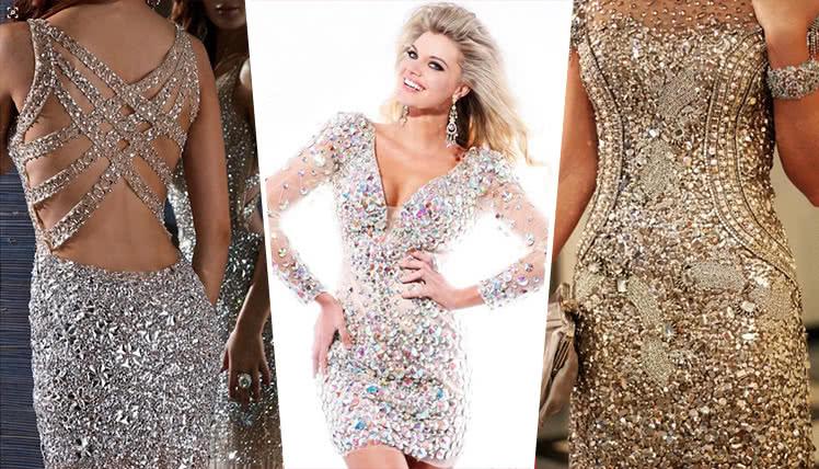 ошибки при выборе платья на выпускной - платье с камнями