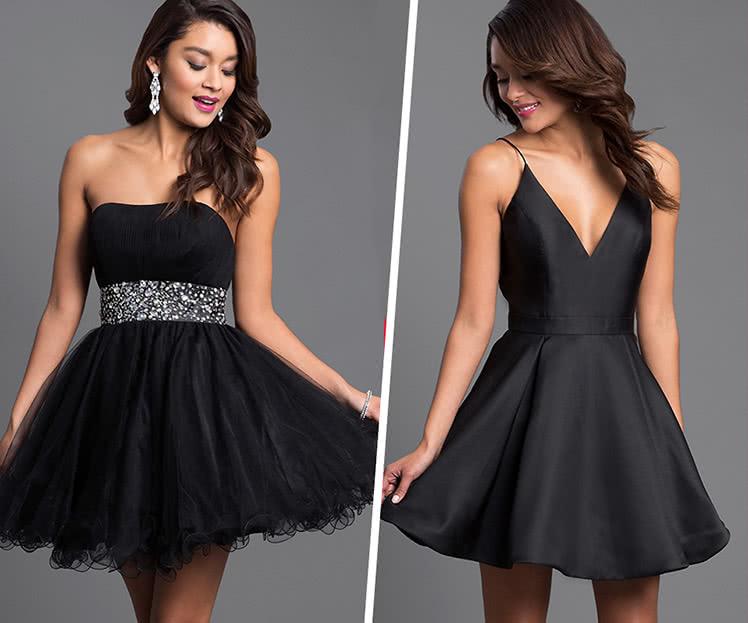 пойти на выпускной в маленьком черном платье, фото