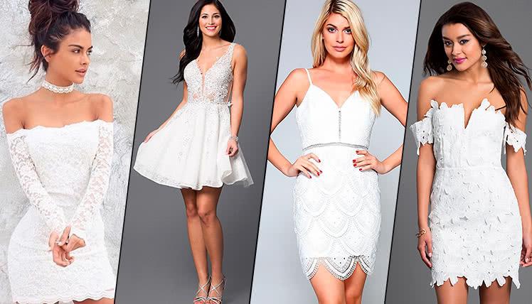 можно ли пойти на выпускной в коротком белом платье, идеи образов