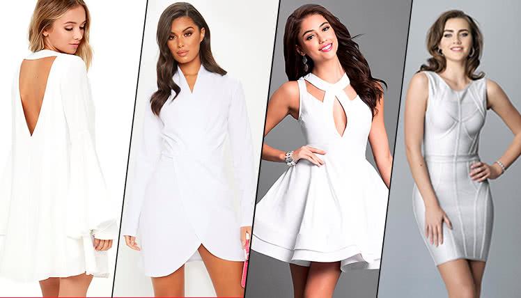 пойти на выпускной в коротком белом платье