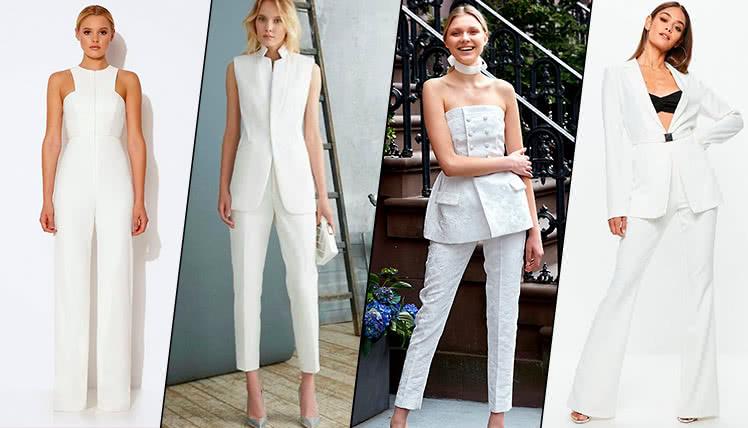 можно ли одеть на выпускной белый женский костюм