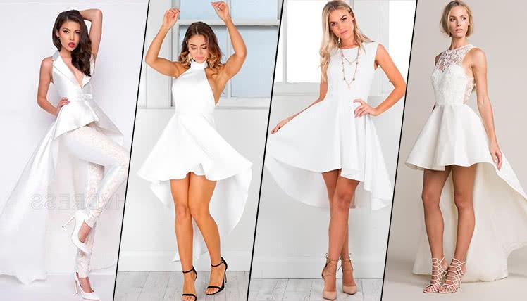 фото идеи образов для выпускного с белым платьем