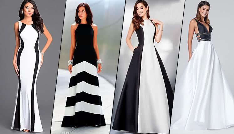 можно ли одеть на выпускной черно-белое платье