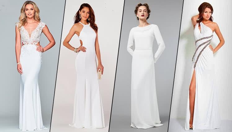 можно ли одеть на выпускной длинное белое платье