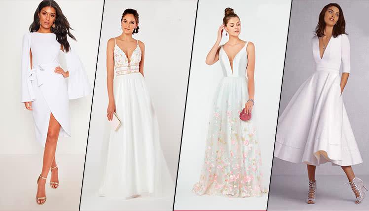 можно ли пойти на выпускной в длинном белом платье, фото образов