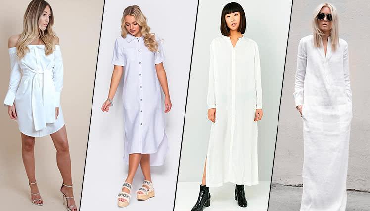 фото образов для выпускного с белым платьем