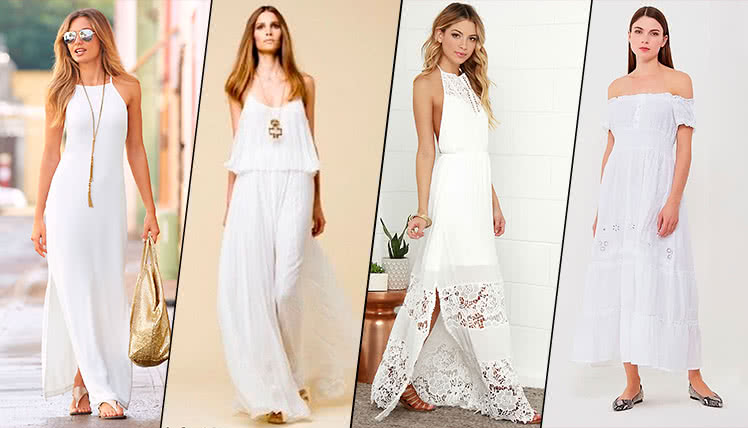 пойти на выпускной в белом летнем платье