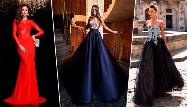 самые модные платья в пол на выпускной 2019