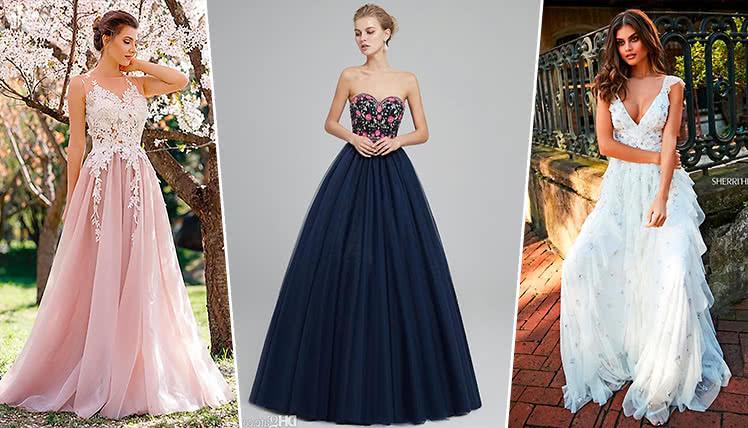самые трендовые длинные платья на выпускной 2019, идеи и фото образов