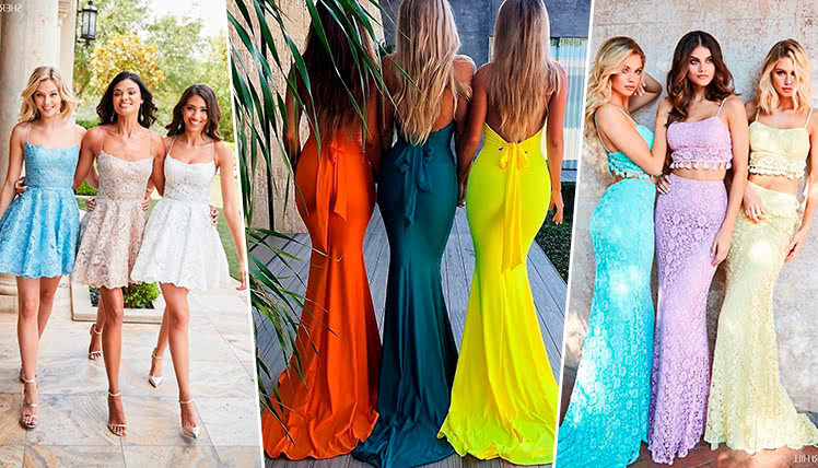 самые модные цвета для платьев на выпускной 2019